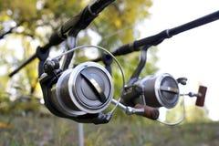 Caña de pescar Imagenes de archivo