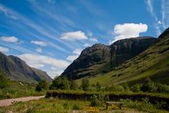Cañada Coe en Escocia Imagen de archivo