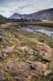 Cañada Etive, valle ocultado, Escocia, Reino Unido Fotos de archivo