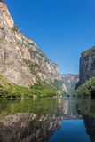Cañon del Sumidero. Wild river at Chiapas. Tour and adventure, Royalty Free Stock Image