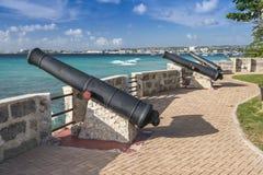 Cañones Bridgetown Barbados imágenes de archivo libres de regalías