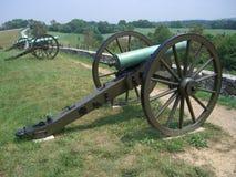 Cañones confederados Foto de archivo