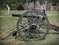 Cañones confederados Fotografía de archivo