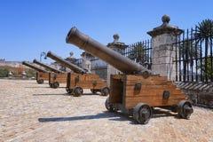 Cañones en el fuerte de St Charles Imagen de archivo libre de regalías