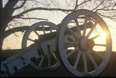 Cañones en el parque nacional en la salida del sol, fragua del valle, PA de la guerra revolucionaria imagenes de archivo