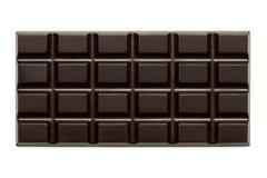Cała cegiełka odizolowywająca na bielu z góry ciemna czekolada zdjęcie stock