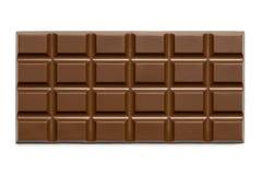 Cała cegiełka odizolowywająca na bielu z góry dojna czekolada obrazy stock