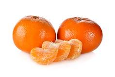 Cała murcott mandarynki pomarańcze na bielu Obraz Stock
