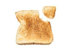 Całej banatki chleb odizolowywający na bielu Zdjęcie Stock