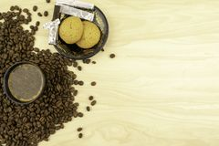 Całej fasoli kawa obrazy royalty free