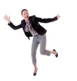 całkowicie szczęśliwa kobieta zdjęcia royalty free