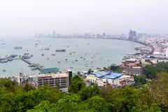Całkowita długa plaża Pattaya Obraz Royalty Free