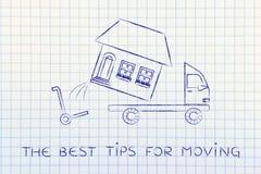 Całkowity dom ładuje na ciężarówce best porady dla ruszać się Zdjęcia Stock