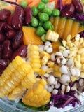 całość groszkuje sałatki z warzywem Obrazy Stock