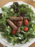 Całość 30 jedzenia na talerzu Obraz Royalty Free