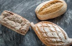 Całość zbożowych chlebów Fotografia Stock