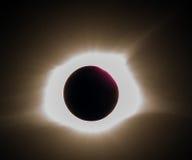 Całości Słoneczny zaćmienie 2017 Zdjęcia Stock