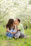 Całować pary Fotografia Stock