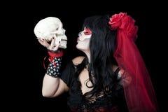 Całowanie cukieru czaszka Obrazy Royalty Free