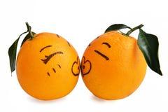 Całuje, Świeży pomarańczowy wyrażenie kochankowie kreskówka, Kreatywnie plakat, walentynek walentynki małżeństwo poślubiam poślub Fotografia Royalty Free