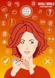 Cały świat w twój smartphone Obraz Stock
