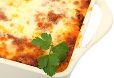 cały cassarole lasagna Zdjęcie Stock