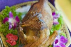 Cały kurczak z głową Zdjęcia Royalty Free