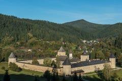 Cały widok SuceviÈ› monaster Fotografia Royalty Free