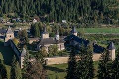 Cały widok SuceviÈ› monaster Zdjęcie Stock