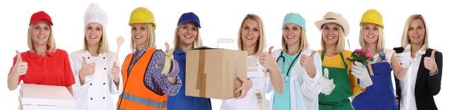 Успех в бизнесе успешный ca женщин профессий группы людей Стоковое фото RF