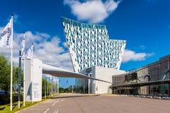 CA Bella Sky Marriott Hotel y Comwell Convention Center en Copenhague, Dinamarca Foto de archivo libre de regalías