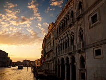 Ca d'Oro, Groot Kanaal, Venetië, Italië Royalty-vrije Stock Afbeelding