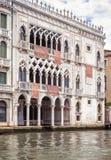 Ca ` d ` Oro pałac na kanał grande, Wenecja, Włochy fotografia stock