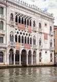 Ca` d`Oro palace on the Grand Canal, Venice, Italy stock photography