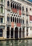 Ca` d`Oro palace on the Grand Canal in Venice Stock Photo