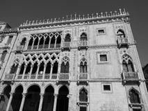 Ca d Oro in Venice in black and white Royalty Free Stock Photography