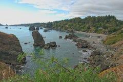 CA du nord près de plage et du Trinidad de Luffenholtz Image libre de droits