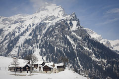 Ca 'francoli on the alps Royalty Free Stock Images