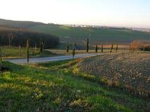 całkowicie chianti rolny Tuscany wino Fotografia Stock
