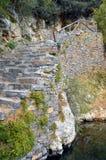 Całkowicie kamienny schody Zdjęcia Royalty Free