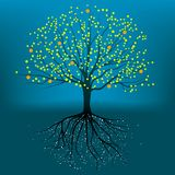 całkowite drzewny wektora Zdjęcie Stock