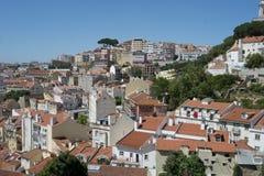 Całkowity miasto widok Lisbon, Portigal Zdjęcie Royalty Free