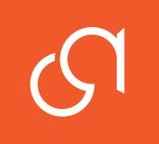 CA Logo Monogram Design Images libres de droits