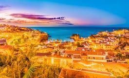 CA¢maraa de罗伯斯,马德拉岛海岛,葡萄牙 图库摄影