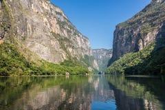 Cañon Del Sumidero. Wild River At Chiapas. Tour And Adventure, Stock Photos