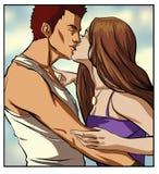 całowanie pary Zdjęcia Royalty Free