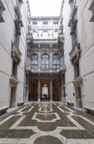 Ca Rezzonico, courtyard in public museum, Venice Royalty Free Stock Photos