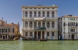 Ca Rezzonico, Kanaal Grande, Venetië, Italië stock fotografie