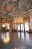 Ca Rezzonico, sala balowej muzeum publicznie, Wenecja Obrazy Royalty Free