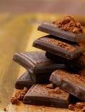 ca szczerbi się czekoladowego kakao Fotografia Stock